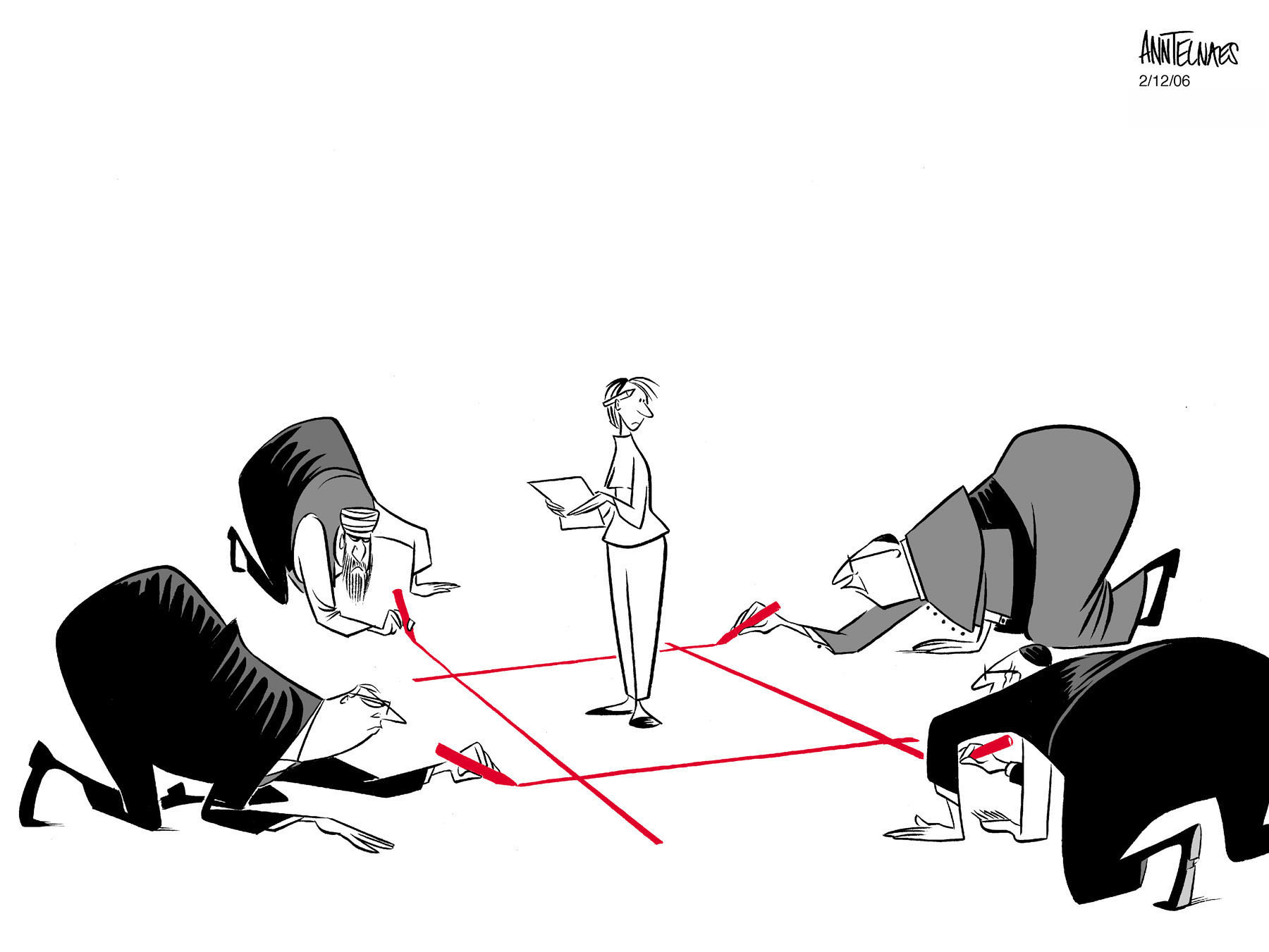 Drawing a line in the Danish Cartoon Controversy
